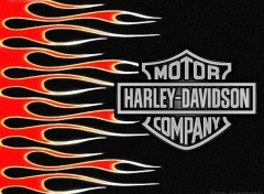 Fonds d'écran Motos Flaming Harley