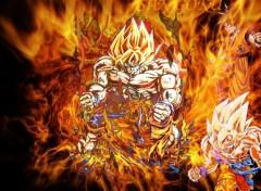 Fonds d'écran Manga la colere de GOKU