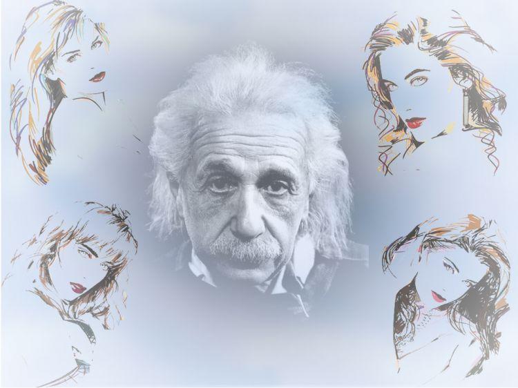 Fonds d'écran Célébrités Homme Albert Einstein Albert & beauties