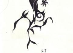 Fonds d'écran Art - Crayon fleur