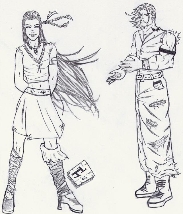Fonds d'écran Art - Crayon Personnages Wallpaper N°14996