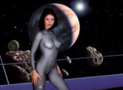 Fonds d'écran Art - Numérique space girl