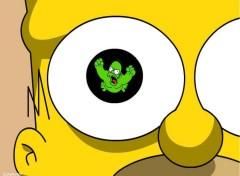 Fonds d'écran Dessins Animés L'oeil d'Homer