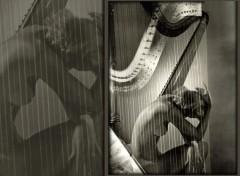 Fonds d'écran Musique harpe girl nude