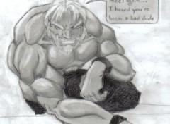 Fonds d'écran Art - Crayon Tulkas... un dieu du Seigneur des Anneaux