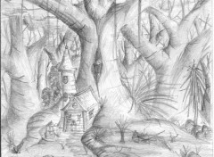 Wallpapers Art - Pencil Forest Life