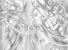 Fonds d'écran Art - Crayon Magic knight rayearth