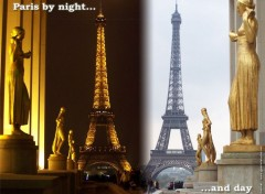 Fonds d'écran Voyages : Europe Paris by night and day