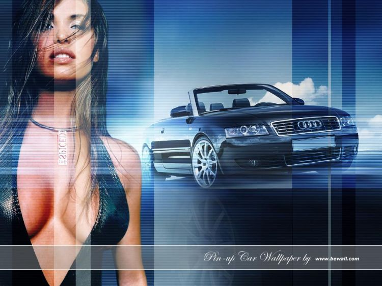 Wallpapers Cars Girls and cars Pin-up Car Wallpaper by bewall.com