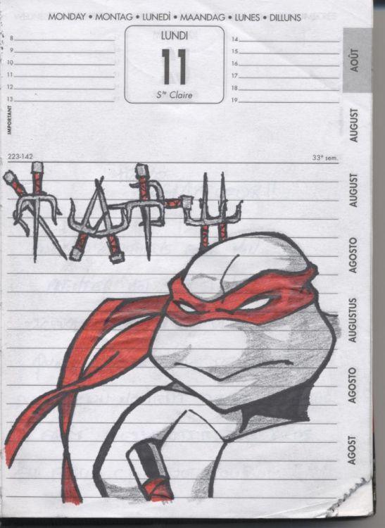 Wallpapers Art Pencil Wallpapers Manga Tortue Ninja Raphael