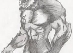 Fonds d'écran Art - Crayon Lycanthrope