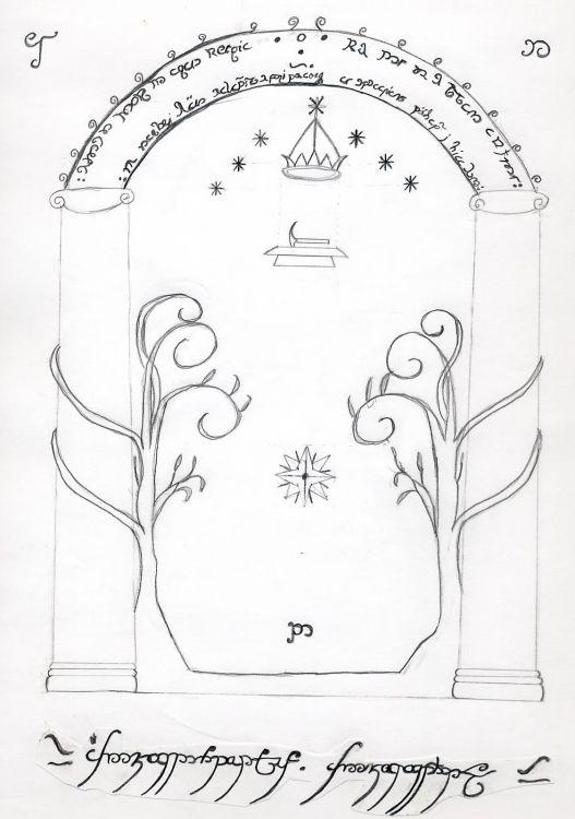 Fonds d'écran Art - Crayon Fantasy - Seigneur des anneaux moria