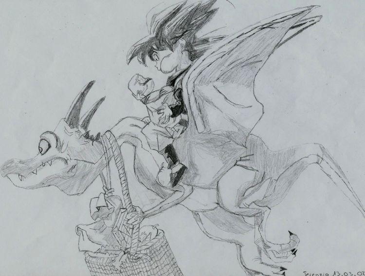 Fonds d'écran Art - Crayon Manga - Dragon Ball Z Sangohan