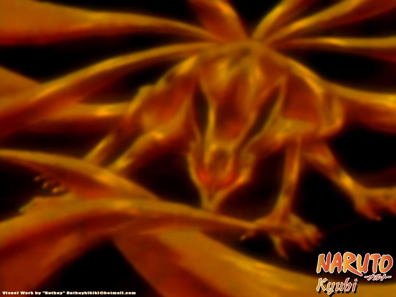 Fonds d'écran Manga Naruto Ruthay Naruto Kyubi 02