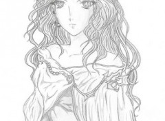 Fonds d'écran Art - Crayon Fantasy woman