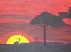 Wallpapers Art - Painting Paysage d' Afrique
