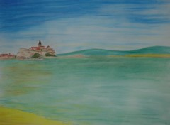 Wallpapers Art - Pencil paysage maritime