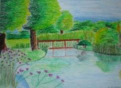 Wallpapers Art - Pencil jardin d'eau