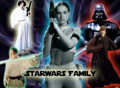 Fonds d'écran Cinéma Starwars Family