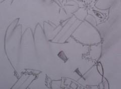 Fonds d'écran Art - Crayon coeur