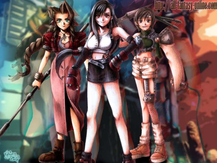 Wallpapers Video Games Final Fantasy VII Aerith Tifa et Yuffie
