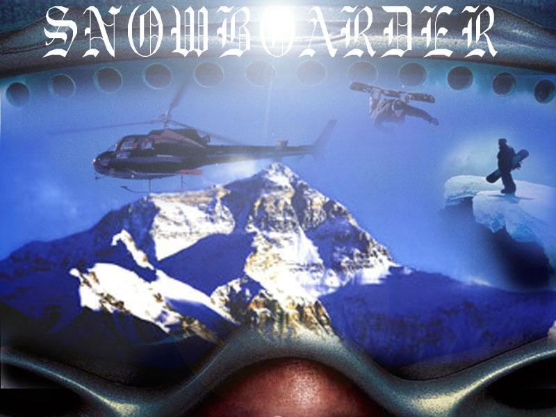 Fonds d'écran Cinéma Snowboarder