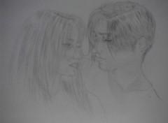 Fonds d'écran Art - Crayon couple