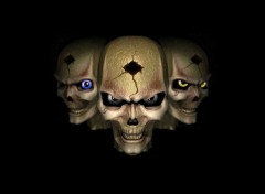 Wallpapers Fantasy and Science Fiction Skulls eyes