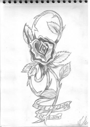 Wallpapers Art - Pencil Tattoos rose version old school