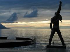 Wallpapers Music Freddie Mercury's statue