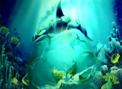 Wallpapers Digital Art fonds marins