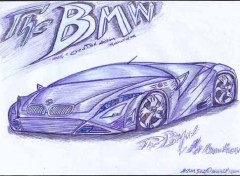 Wallpapers Art - Pencil bmw