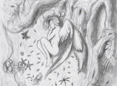 Fonds d'écran Art - Crayon Endormie