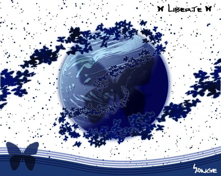 Fonds d'écran Art - Numérique Abstrait liberté white oo--> songe
