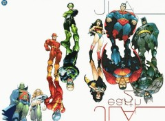 Wallpapers Comics JLA vs Evil JLA