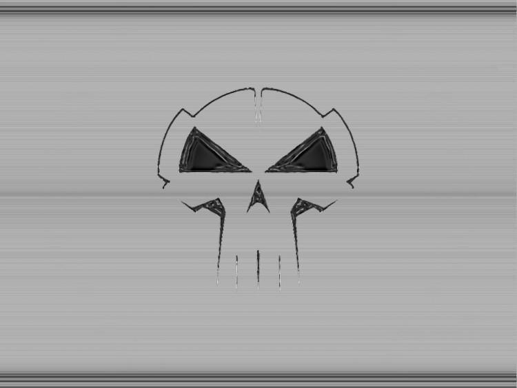 Fonds d'écran Comics et BDs Punisher alu crane