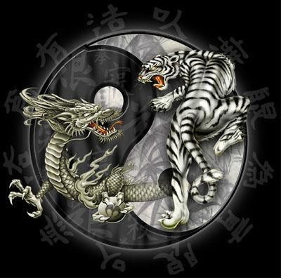 Fonds d'écran Art - Numérique Animaux Zen_dragon tiger