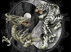 Fonds d'écran Art - Numérique Zen_dragon tiger