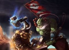 Fonds d'écran Art - Peinture blade master VS mountain king