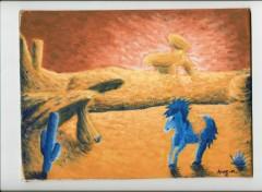 Wallpapers Art - Painting cheval dans le desert