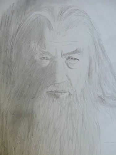 Fonds d'écran Art - Crayon Fantasy - Seigneur des anneaux gandalf