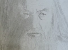 Fonds d'écran Art - Crayon gandalf