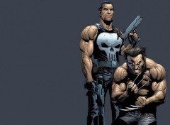 Fonds d'écran Comics et BDs Punisher & Wolverine