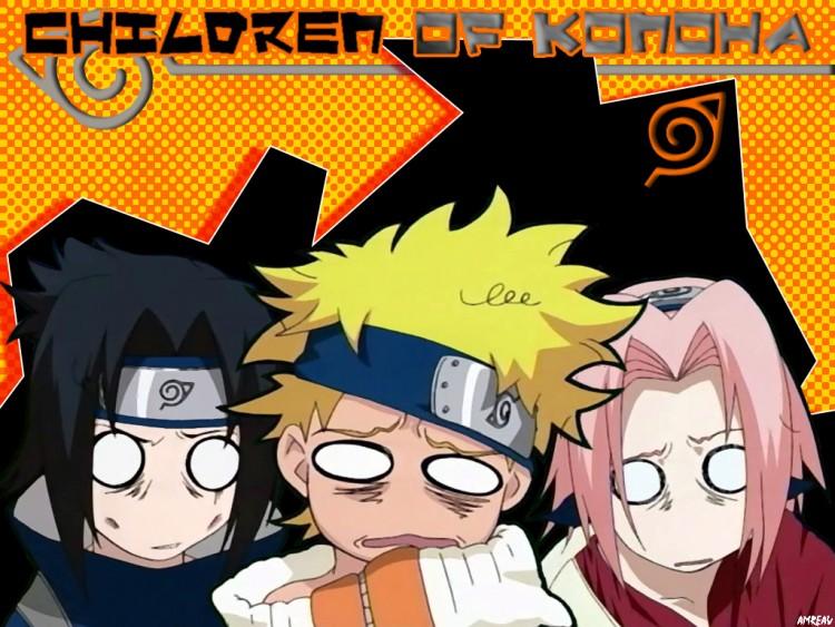 Fonds d'écran Manga Naruto Children of Konoha