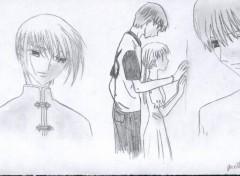 Wallpapers Art - Pencil Yuki, Kyô et Tohru