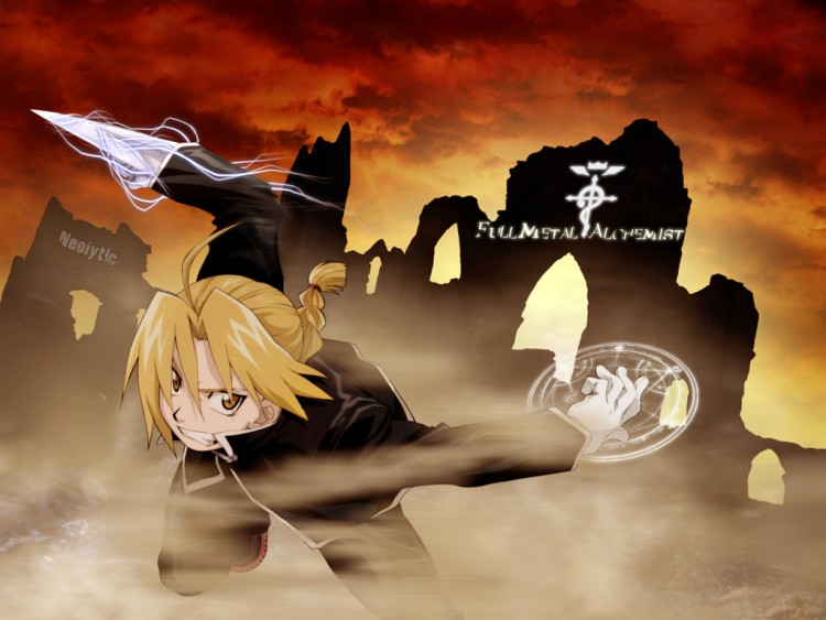 Fonds d'écran Manga Full Metal Alchemist Ed en plein combat !!