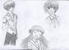 Wallpapers Art - Pencil Harhu, Torhu et Yuki