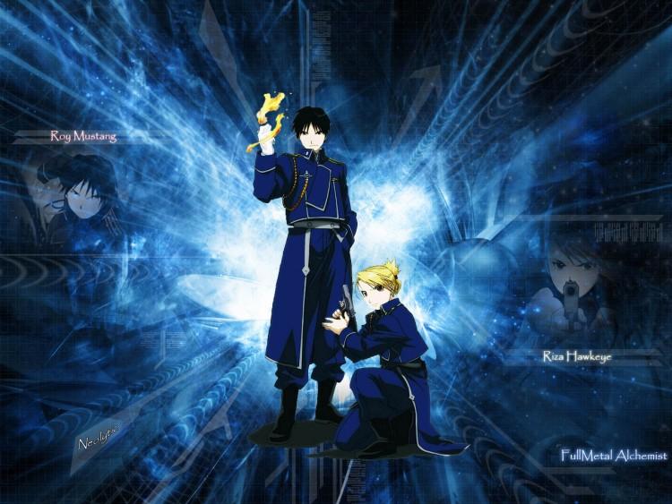 Fonds d'écran Manga Full Metal Alchemist Roy & Riza