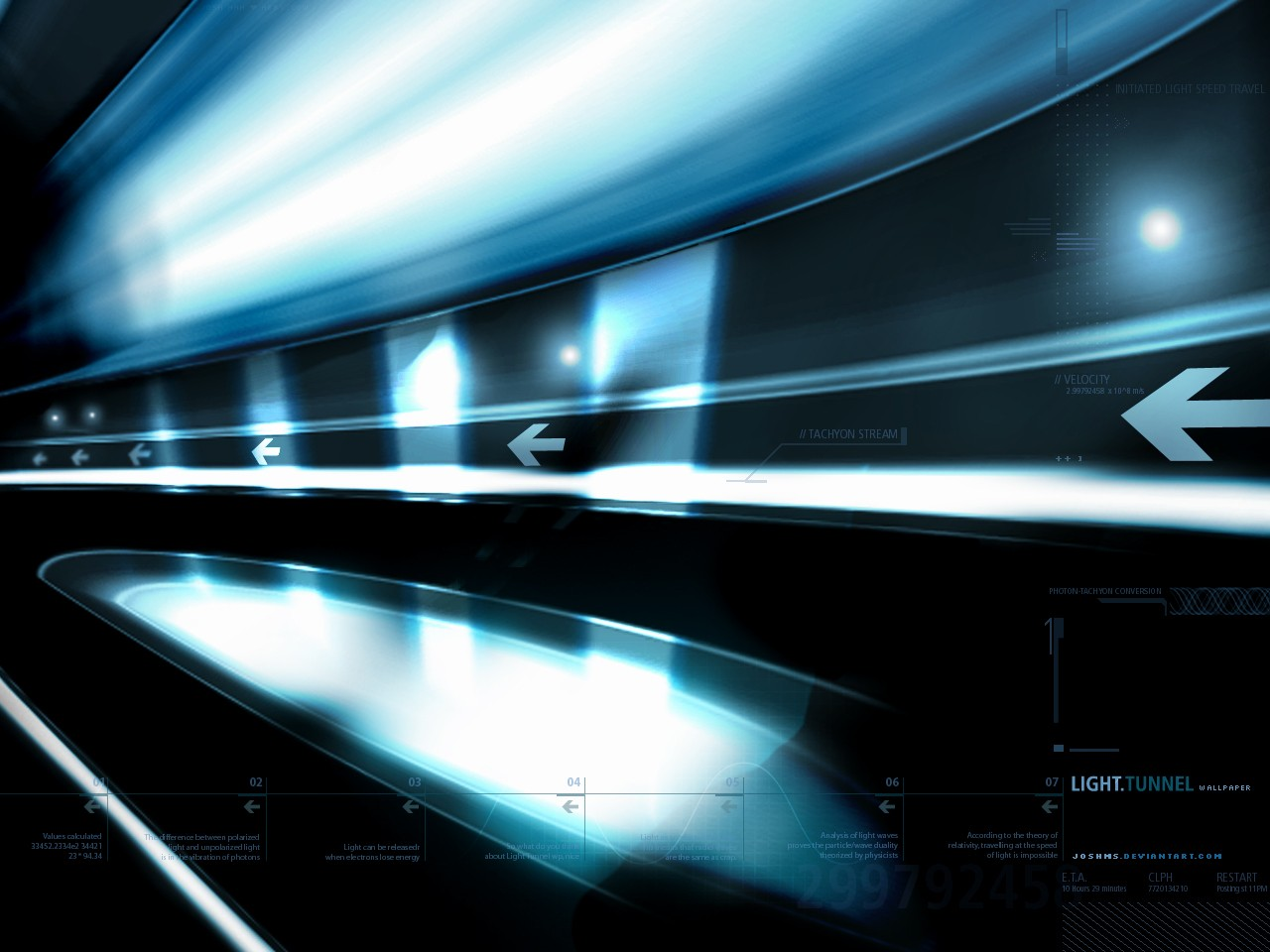 Wallpapers Digital Art Abstract Light Tunnel