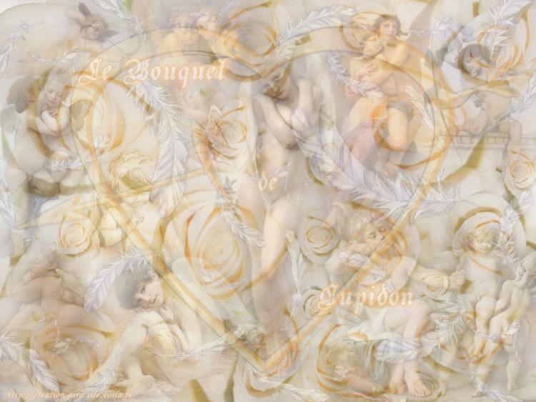 Wallpapers Fantasy and Science Fiction Angels Le Bouquet de Cupidon
